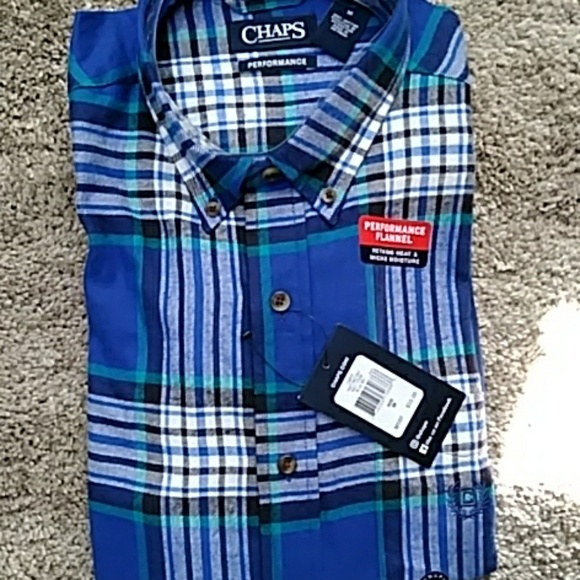 Chaps Other - *3 for $10* CHAPS LS PERFORMANCE SHIRT - MED.